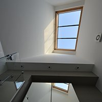 Architect designed house extension with full refurbishment Lewisham SE13 Bathroom rooflight 200x200 Grove Park, Lewisham SE12 | House extension