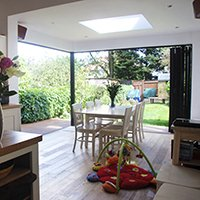 East Finchley Barnet N2 House extension Kitchen view out 200x200 Residential renovations London | Home designs