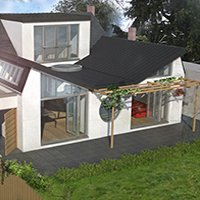 Architect designed residential extension Stoneleigh KT17 – 3D Rear 200x200 Contemporary extensions London | Home design