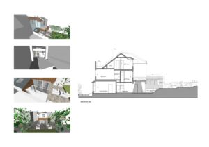 03 Highgate Haringey N8 House extension Design section 300x212 Filterable Portfolio of Residential Architecture Projects