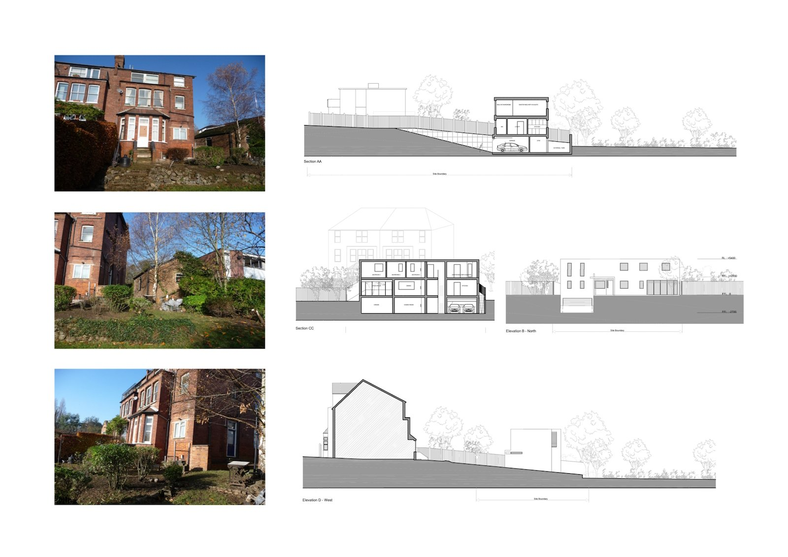 02 Highgate Haringey N6 House development Site sections 2 Highgate I, Haringey N6 | Residential property development