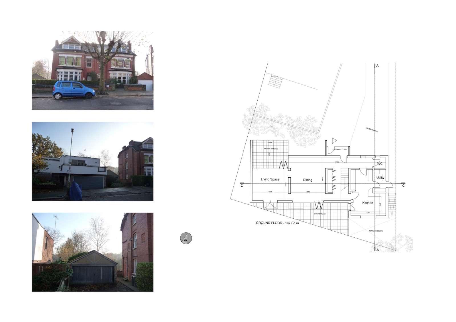 03 Highgate Haringey N6 House development Lower floor plan Highgate I, Haringey N6 | Residential property development
