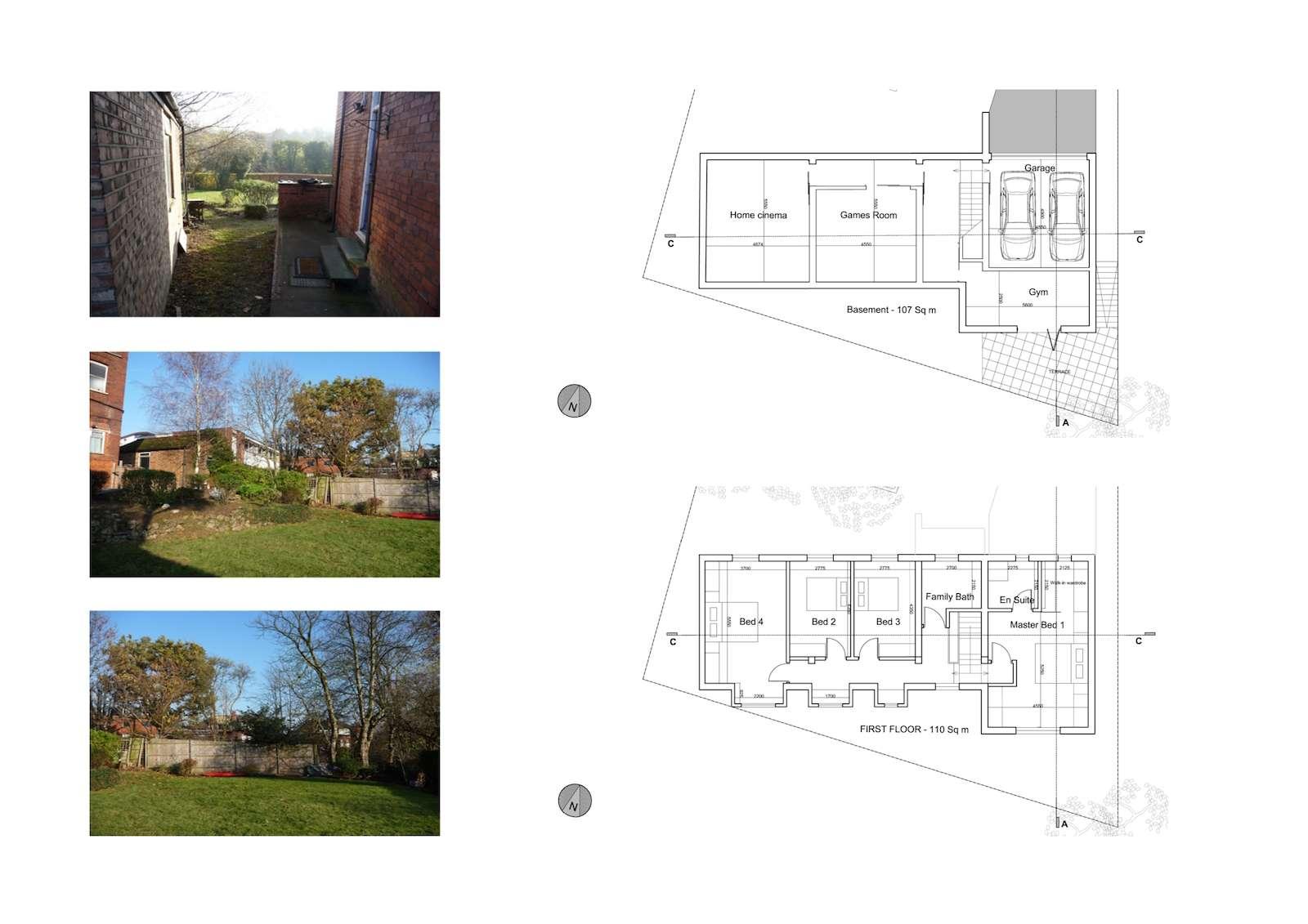 04 Highgate Haringey N6 House development Upper floor plans Highgate I, Haringey N6 | Residential property development