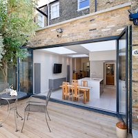 Architect designed Putney Wandsworth SW6 kitchen house extension Connecting to the rear garden Rear extensions London | Home design