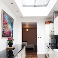 Architect designed flat extension Warwick Avenue Westminster W9 Kitchen area Garden flat extensions London | Home design