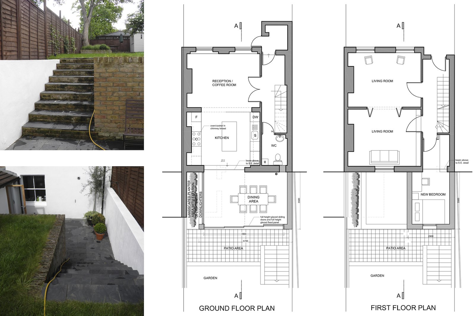 Architect designed two storey house extension Brockley Lewisham SE4 – Design plans Brockley, Lewisham SE4 | Two storey house extension