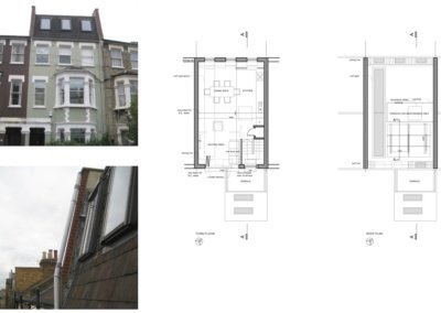 Fulham Broadway SW6 Fulham and Hammersmith Flat alterations to mansard roof Floor plans 1200x800 400x284 Filterable Portfolio of Residential Architecture Projects