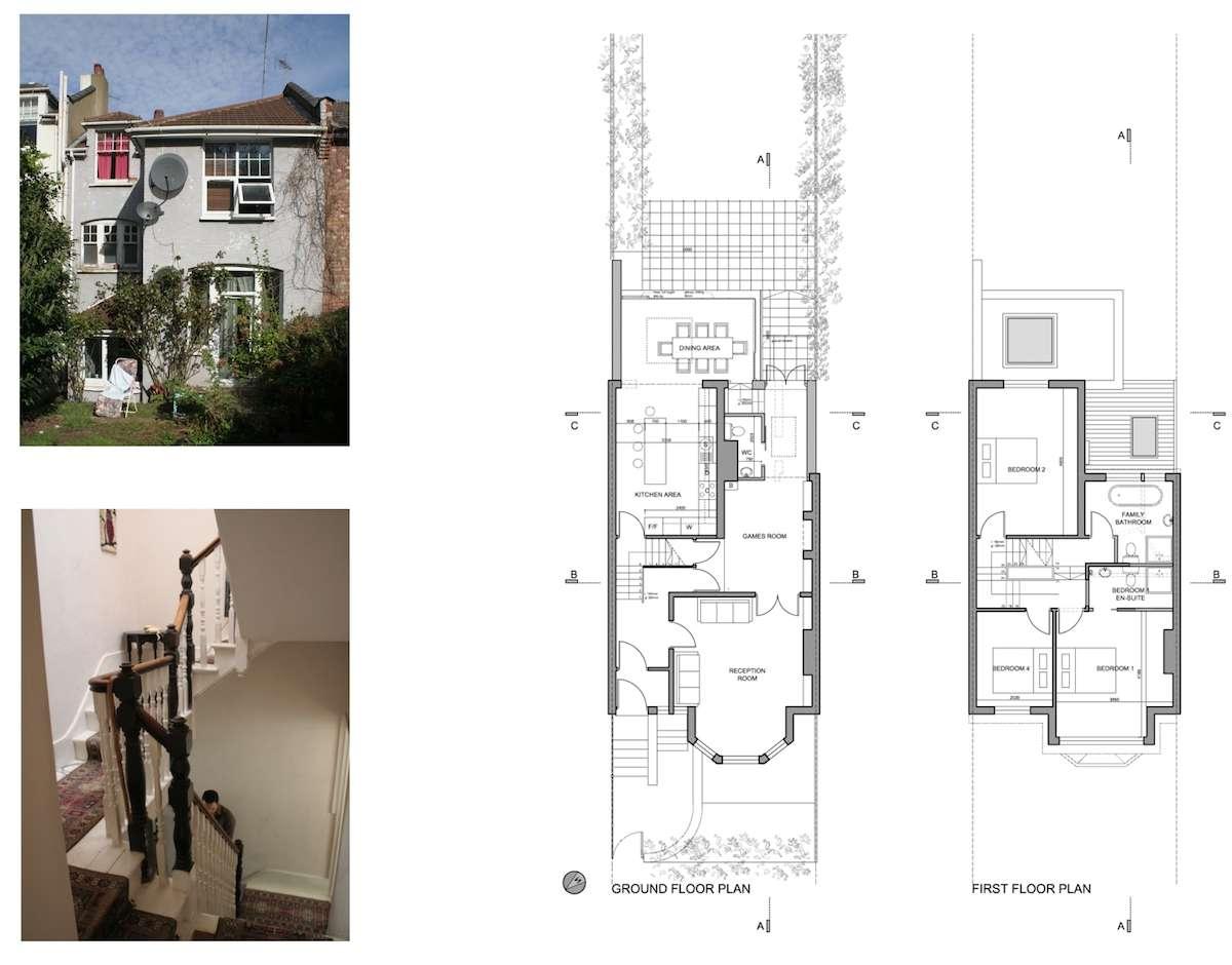01 Highgate Haringey N8 House extension Lower floor plans Highgate II, Haringey N8 | House extension