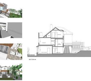 03 Highgate Haringey N8 House extension Design section 300x266 Highgate II, Haringey N8 | House extension