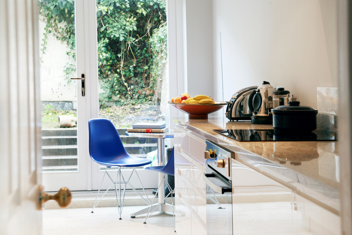 Architect designed Listed House extension Angel Islington EC1 Internal kitchen view 1200x800 Angel, Islington EC1 | Listed house extension