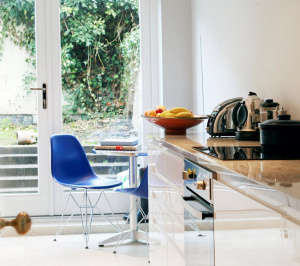 Architect designed Listed House extension Angel Islington EC1 Internal kitchen view 300x266 Angel, Islington EC1 | Listed house extension