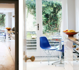 Architect designed Listed House extension Angel Islington EC1 Kitchen and long sightlines 300x266 Angel, Islington EC1 | Listed house extension