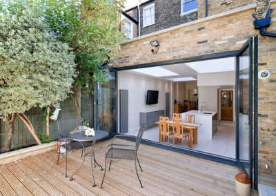 Architect designed Putney Wandsworth SW6 kitchen house extension Connecting to the rear garden 1200x800 1 400x284 Filterable Portfolio of Residential Architecture Projects