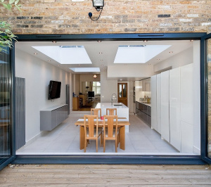 Architect designed Putney Wandsworth SW6 kitchen house extension View from the garden 300x266 Putney, Wandsworth SW6 | Kitchen house extension