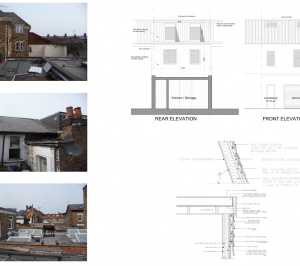 Architect designed flat extension Hammersmith Fulham W12 Design elevations 300x266 Stamford Brook, Hammersmith and Fulham W12 | Flat extension