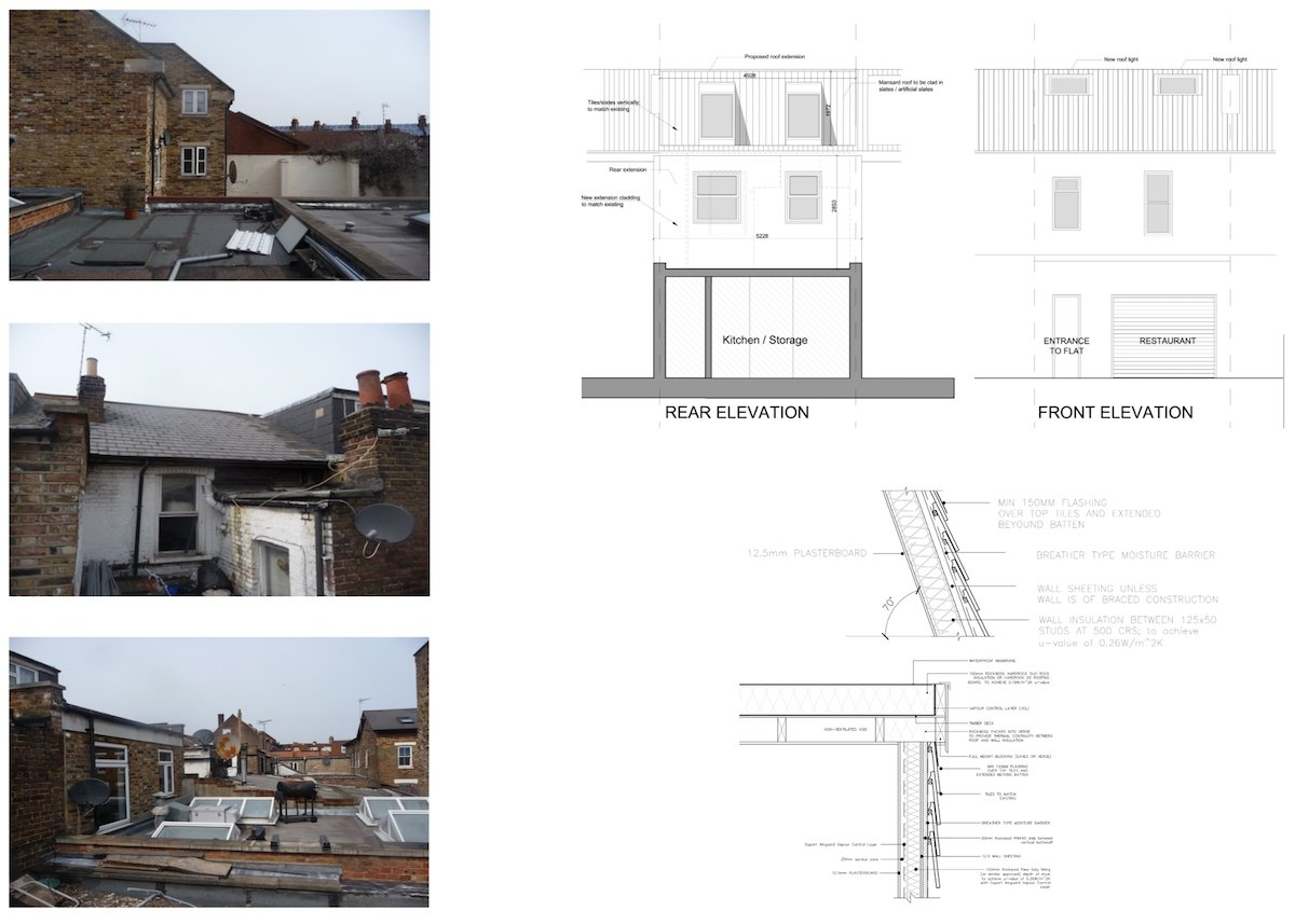 Architect designed flat extension Hammersmith Fulham W12 Design elevations Stamford Brook, Hammersmith and Fulham W12 | Flat extension