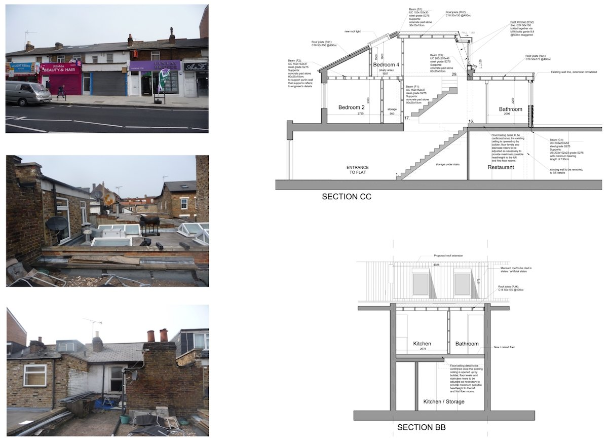 Architect designed flat extension Hammersmith Fulham W12 Design sections Stamford Brook, Hammersmith and Fulham W12 | Flat extension