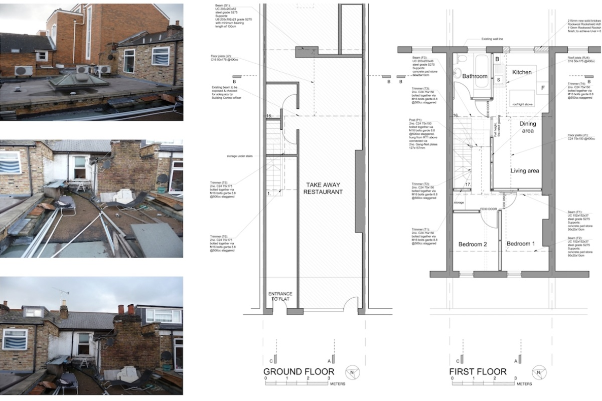 Architect designed flat extension Hammersmith Fulham W12 G F design plans 1200x800 Stamford Brook, Hammersmith and Fulham W12 | Flat extension