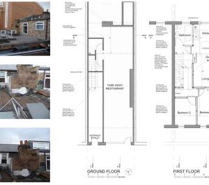 Architect designed flat extension Hammersmith Fulham W12 G F design plans 300x266 Stamford Brook, Hammersmith and Fulham W12   Flat extension