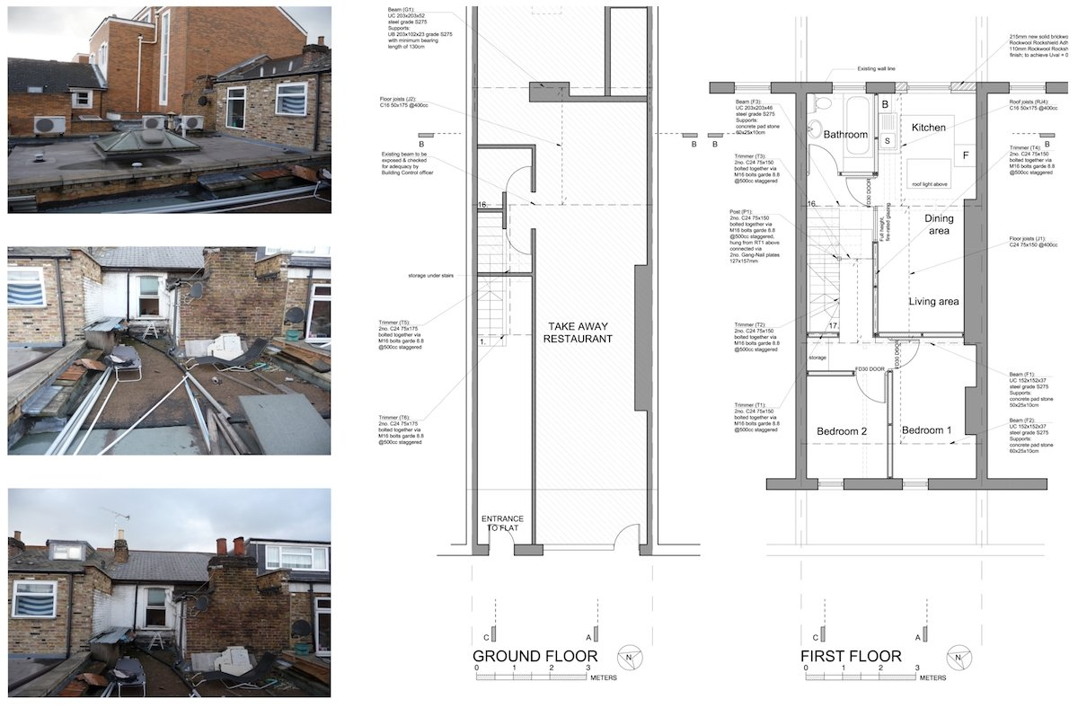 Architect designed flat extension Hammersmith Fulham W12 G F design plans Stamford Brook, Hammersmith and Fulham W12 | Flat extension