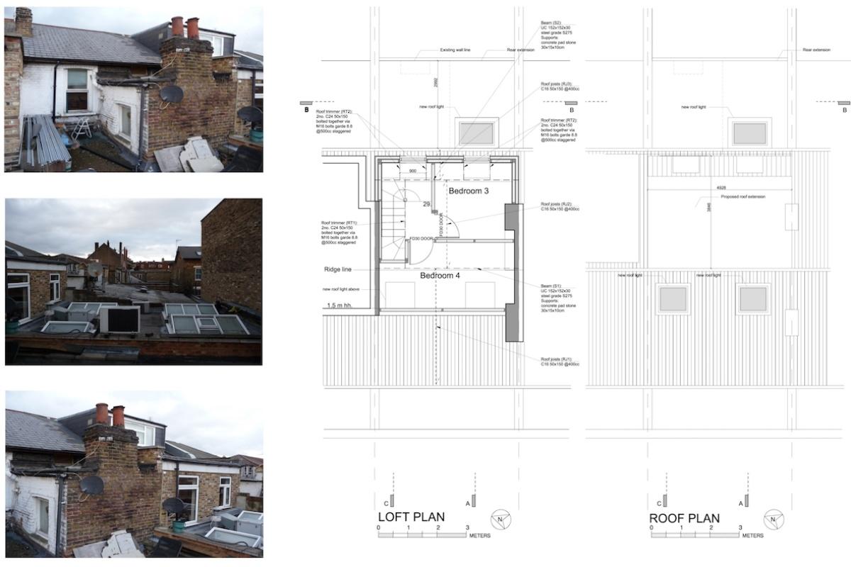 Architect designed flat extension Hammersmith Fulham W12 L R design plans 1200x800 Stamford Brook, Hammersmith and Fulham W12   Flat extension