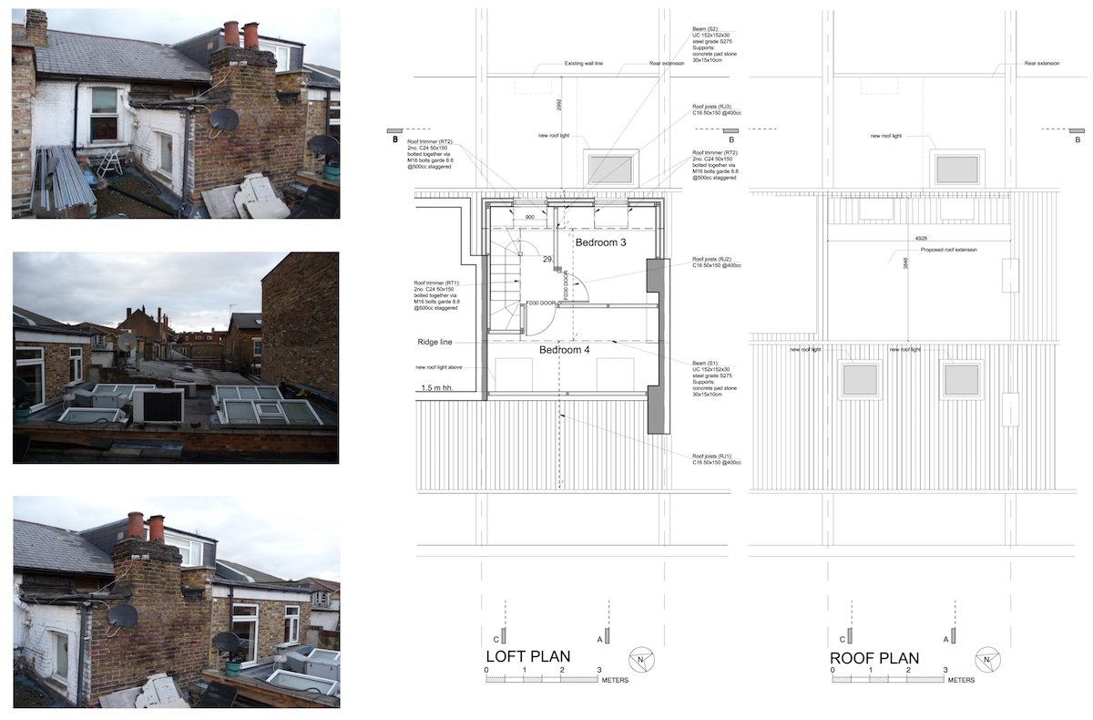 Architect designed flat extension Hammersmith Fulham W12 L R design plans Stamford Brook, Hammersmith and Fulham W12 | Flat extension