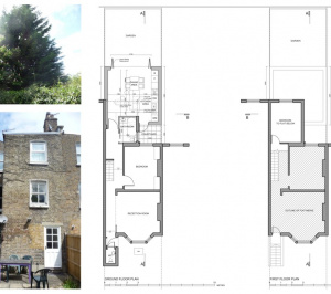 Architect designed flat extension Maida Vale Westminster W9 Floor plans 1 300x266 Maida Vale, Westminster W9 | Flat extension