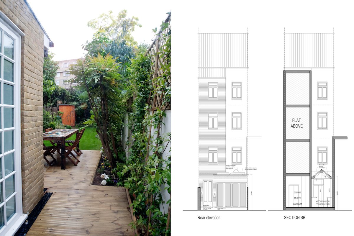 Architect designed flat extension Warwick Avenue Westminster W9 Design elevations Warwick Avenue, Westminster W9 | Flat extension