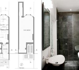 Architect designed flat extension Warwick Avenue Westminster W9 Floor plans 300x266 Warwick Avenue, Westminster W9   Flat extension