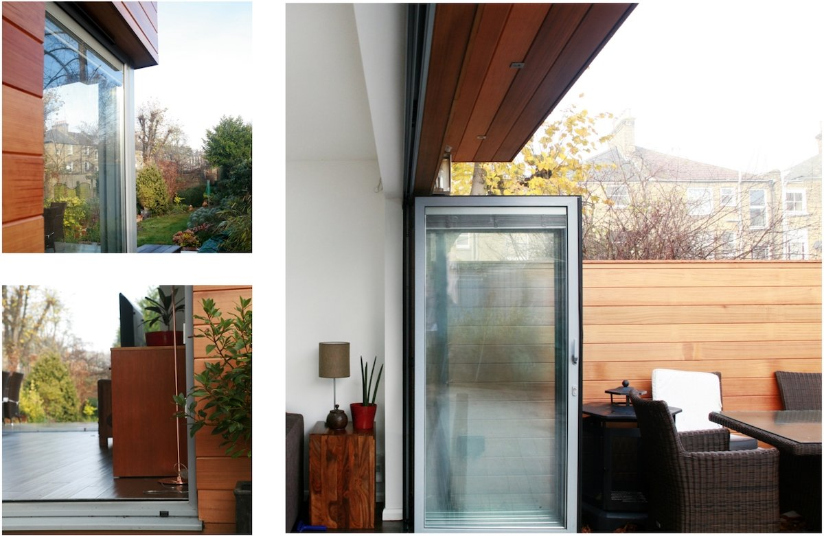 Architect designed house extension Brockley Lewisham SE4 Timber cladding and glass transparency Brockley, Lewisham SE4 | House extension