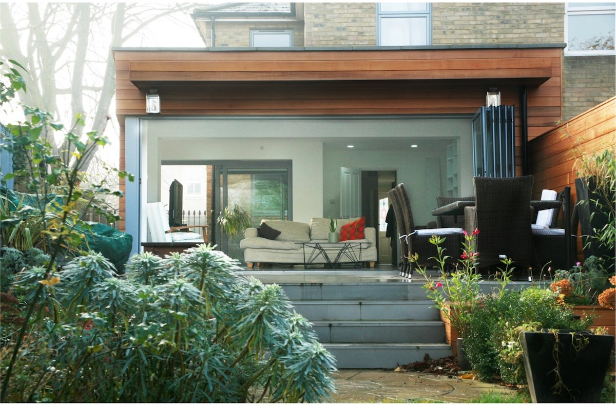 Architect designed house extension Brockley Lewisham SE4 View from the garden Brockley, Lewisham SE4 | House extension