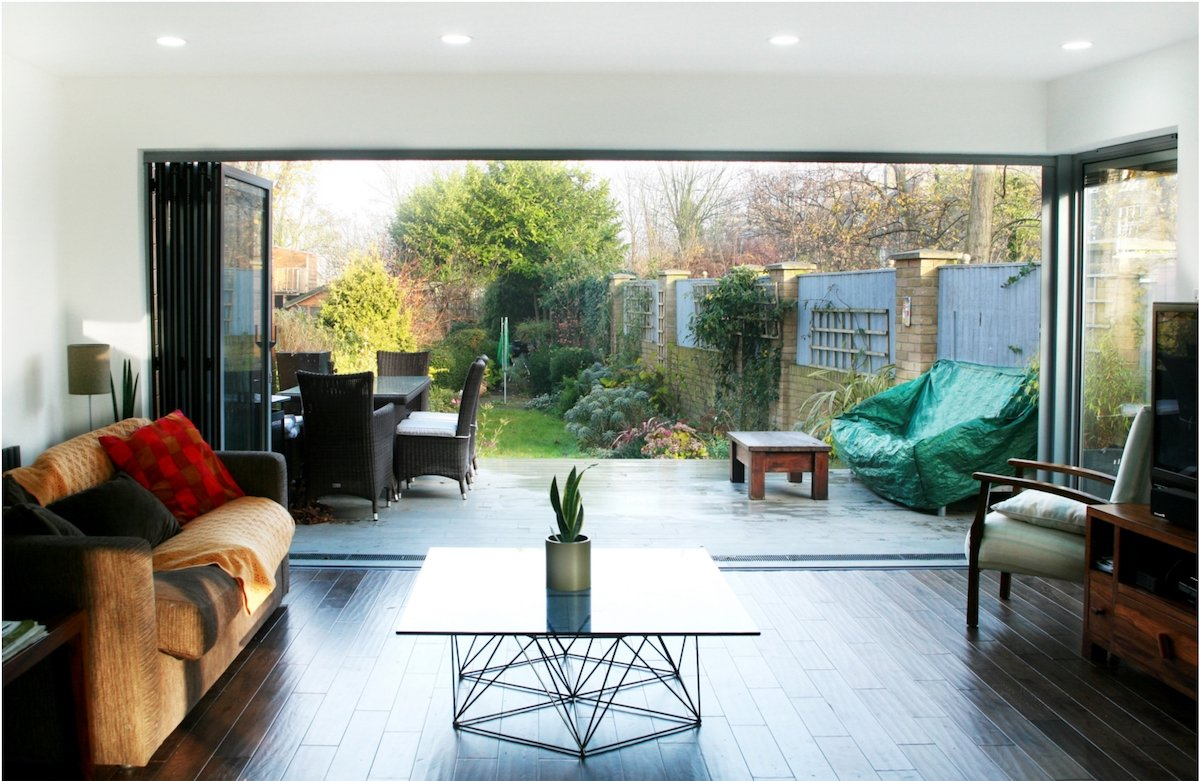 Architect designed house extension Brockley Lewisham SE4 View to the garden Brockley, Lewisham SE4 | House extension