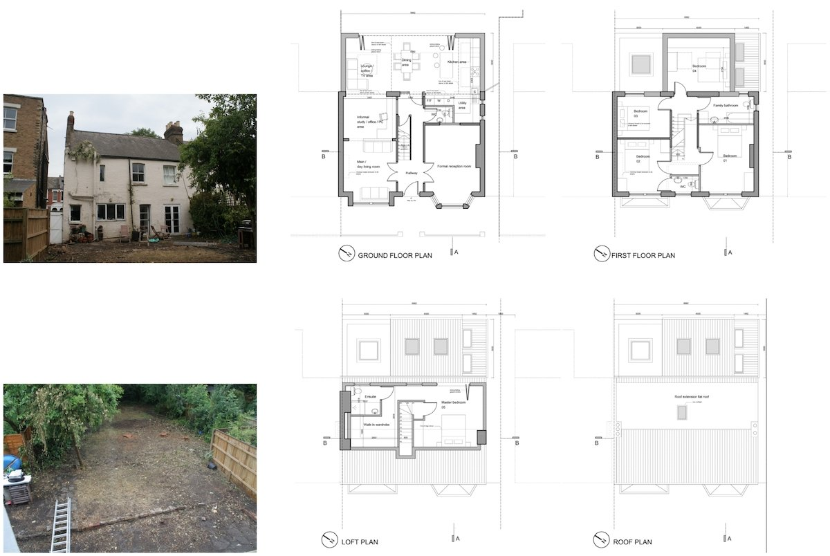 Architect designed house extension Chiswick Hounslow W4 Design floor plan Chiswick, Hounslow W4   House extension