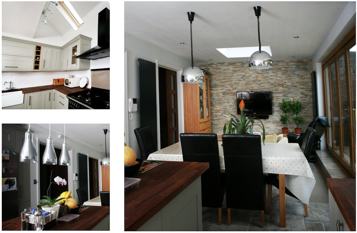 Architect designed house extension Chiswick Hounslow W4 Kitchen and dining design photos Chiswick, Hounslow W4   House extension