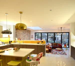 Architect designed house extension Grange Park Enfield N21 Internal view 300x266 Grange Park, Enfield N21 | House extension and alterations
