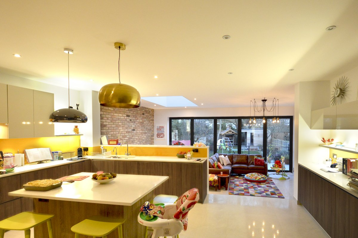 Architect designed house extension Grange Park Enfield N21 Internal view Grange Park, Enfield N21 | House extension and alterations