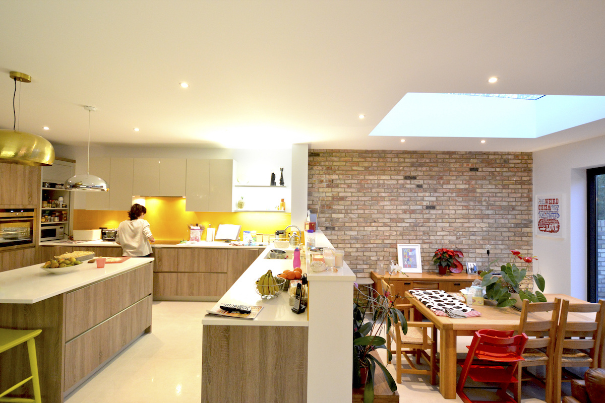 Architect designed house extension Grange Park Enfield N21 Kitchen and dining areas 1 1200x800 Grange Park, Enfield N21 | House extension and alterations