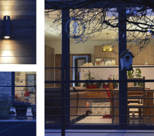 Architect designed house extension Grange Park Enfield N21 Night view 1 300x266 Grange Park, Enfield N21 | House extension and alterations