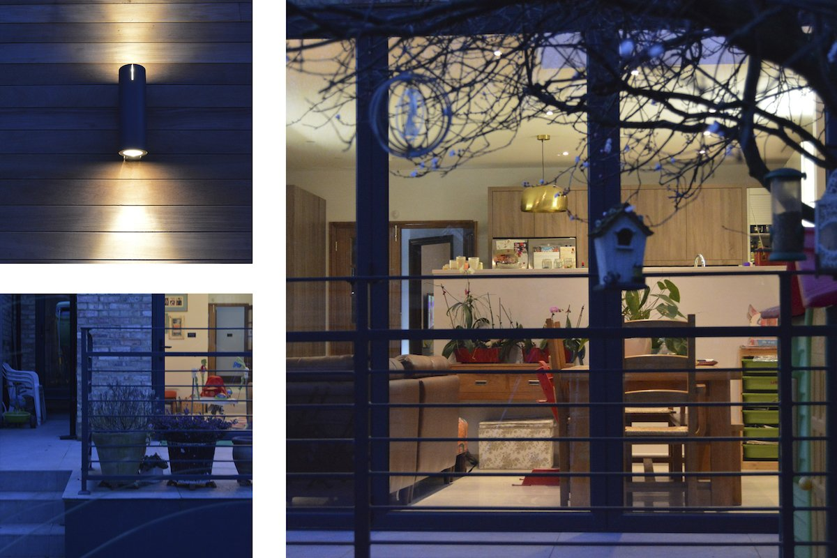 Architect designed house extension Grange Park Enfield N21 Night view 1 Grange Park, Enfield N21 | House extension and alterations