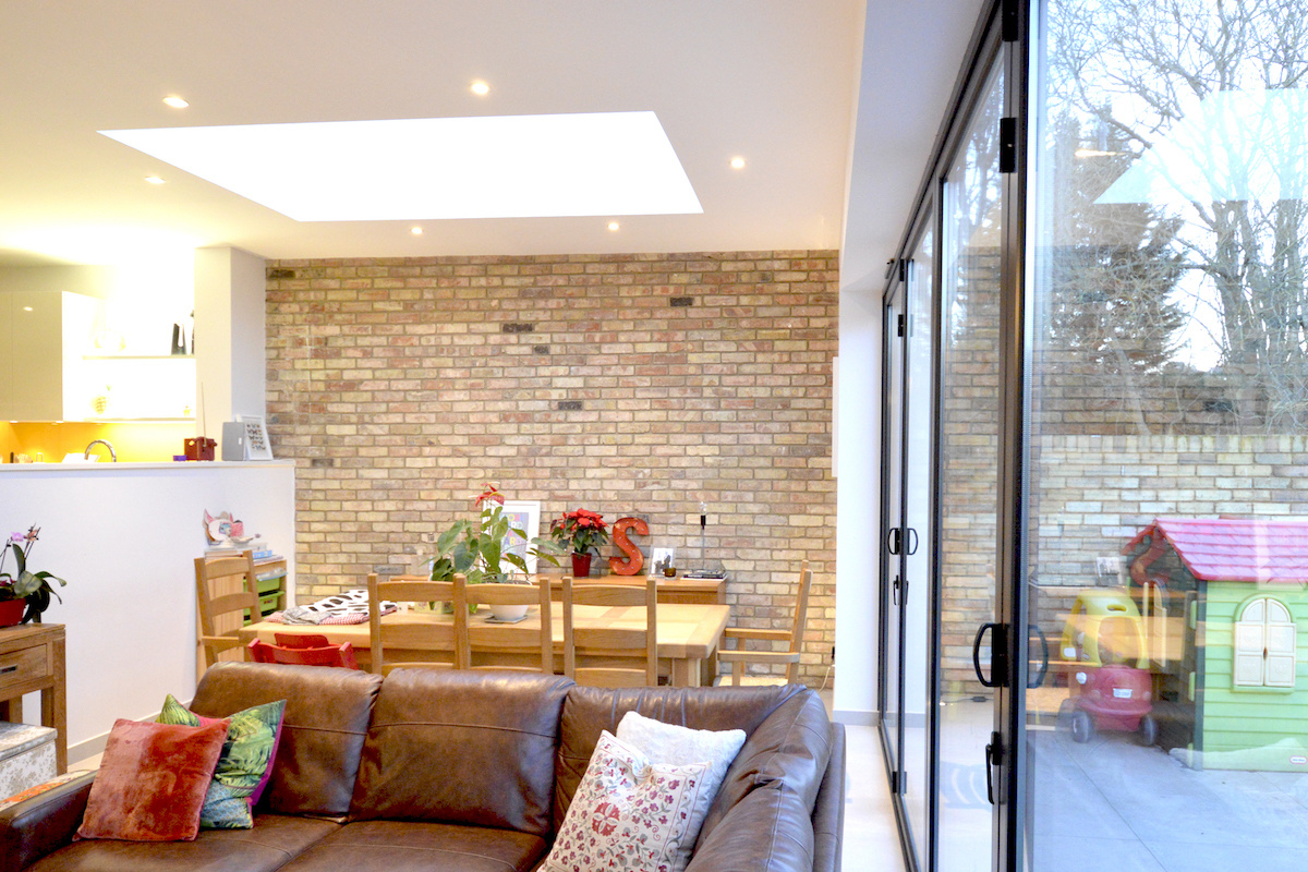 Architect designed house extension Grange Park Enfield N21 View inside out 1200x800 Grange Park, Enfield N21 | House extension and alterations