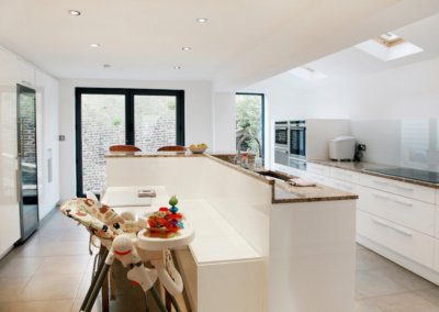 Architect designed house extension Highbury Islington N5 Ground floor kitchen area 400x284 Filterable Portfolio of Residential Architecture Projects