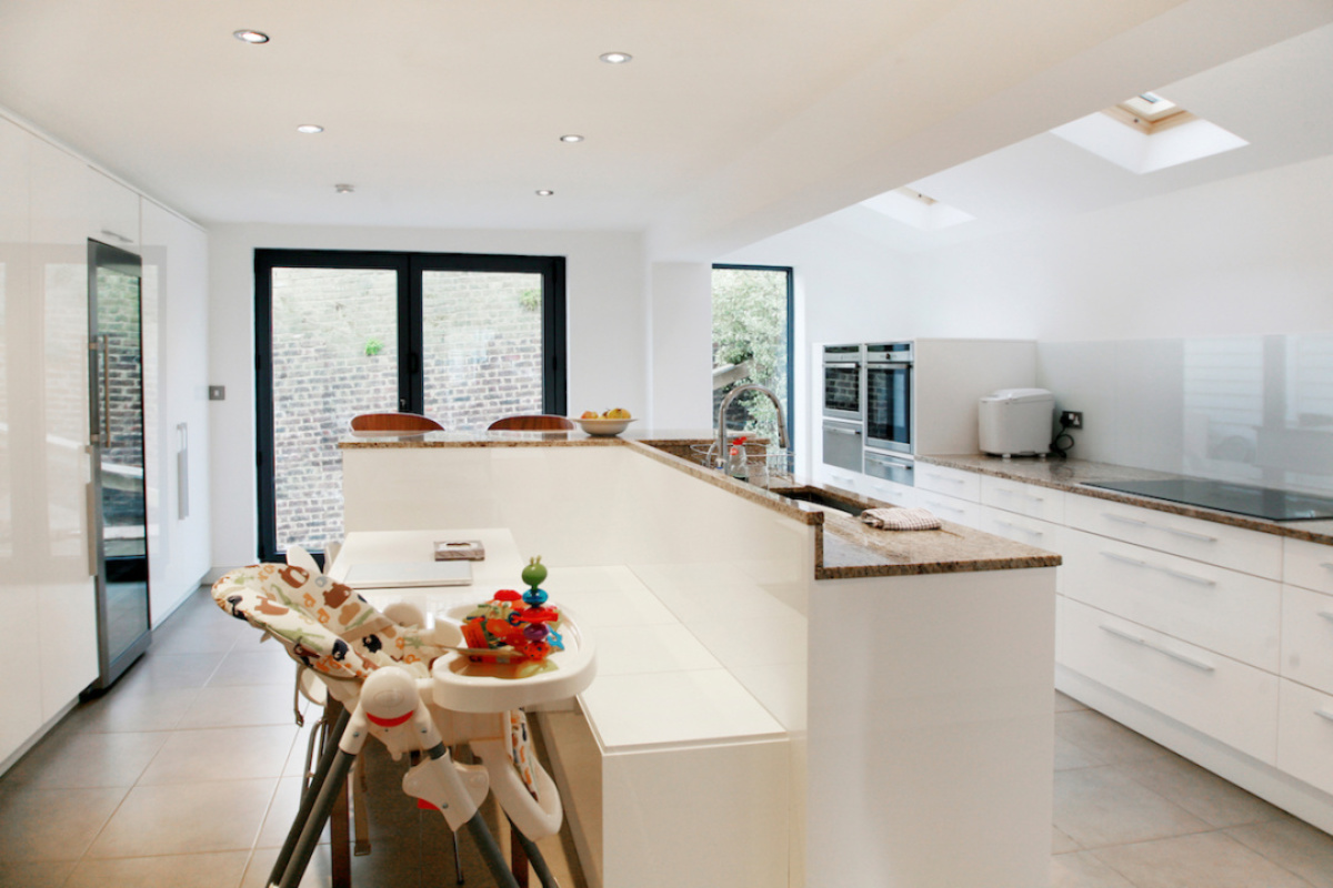 Architect designed house extension Highbury Islington N5 Ground floor kitchen area e1582377873245 1200x800 Highbury, Islington N5 | House extension