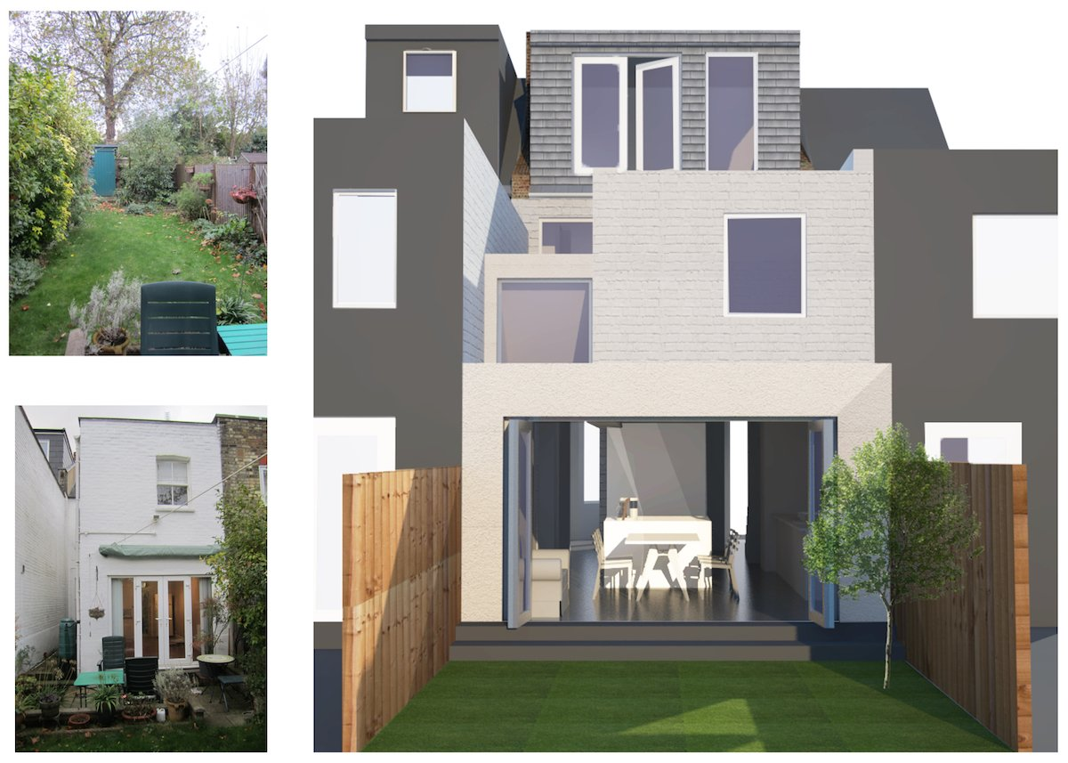 Architect designed house extension West Hampstead Camden NW6 3D visual and photos1 2 West Hampstead, Camden NW6   House extension
