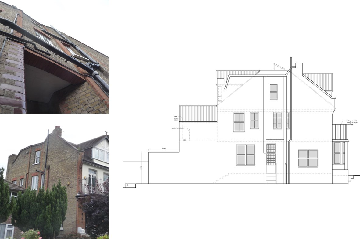 Architect designed house extension Winchmore Hill Enfield N21 Side elevation Winchmore Hill, Enfield N21 | House extension and refurbishment
