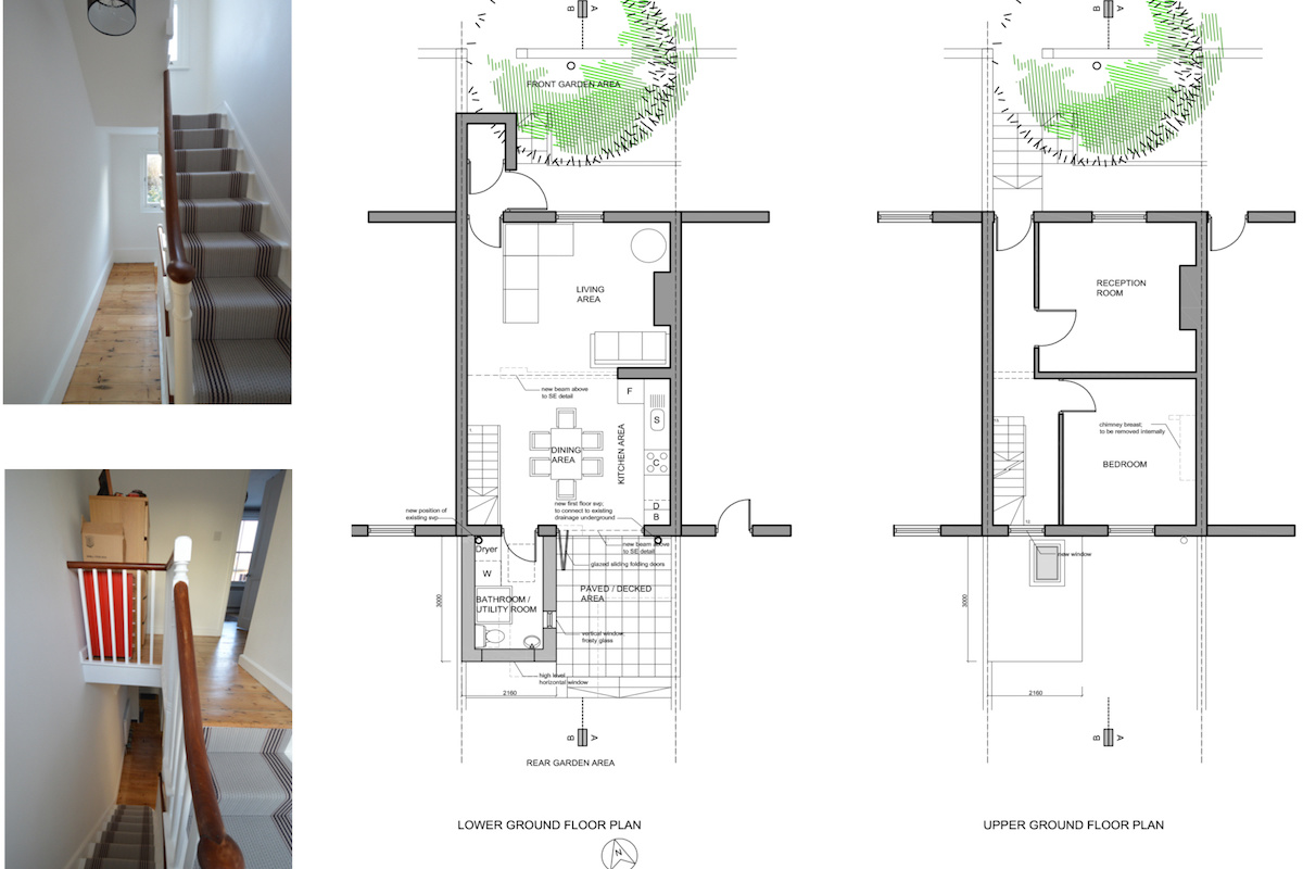 Architect designed house extension with full refurbishment Lewisham SE13 Floor plans2 1200x800 Lewisham SE13 | House extension and full refurbishment
