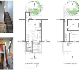 Architect designed house extension with full refurbishment Lewisham SE13 Floor plans2 300x266 Lewisham SE13 | House extension and full refurbishment
