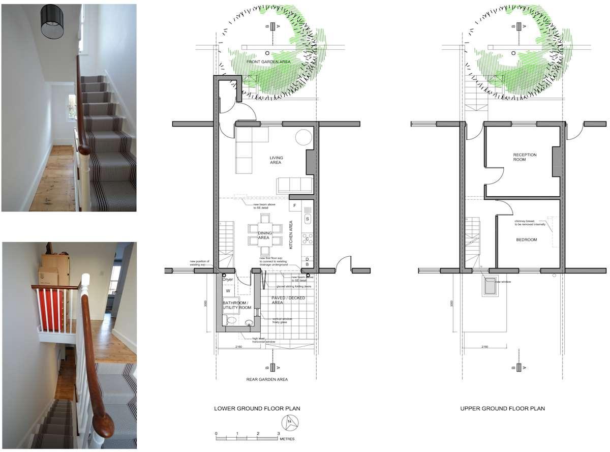 Architect designed house extension with full refurbishment Lewisham SE13 Floor plans2 Lewisham SE13 | House extension and full refurbishment