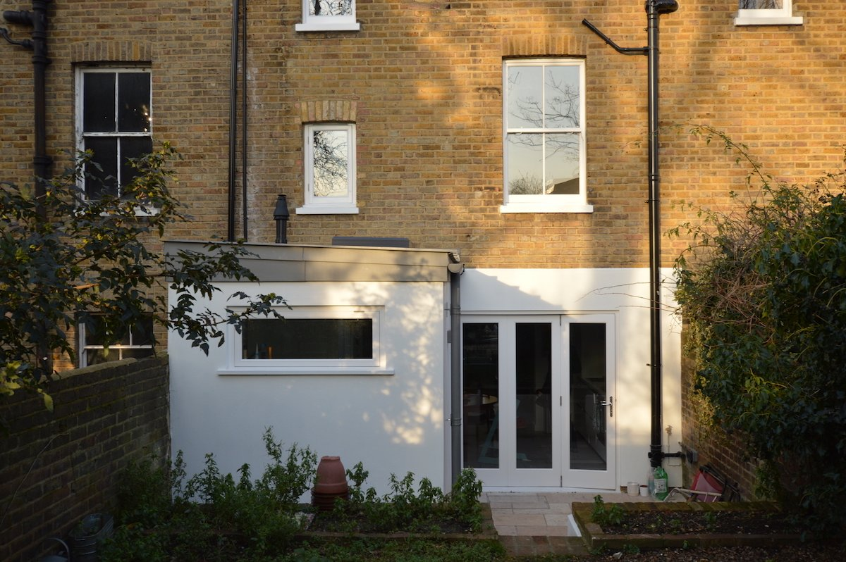 Architect designed house extension with full refurbishment Lewisham SE13 View of rear elevation1 Lewisham SE13 | House extension and full refurbishment