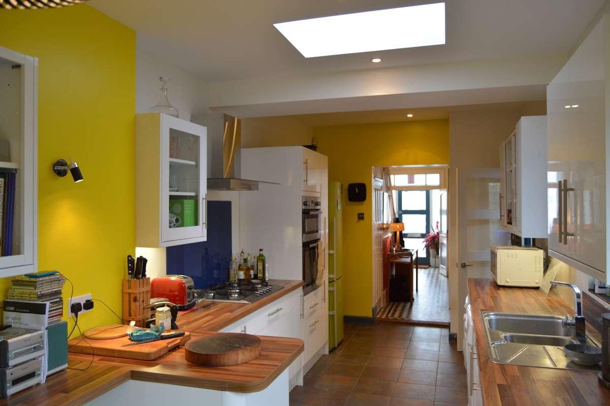 Architect designed kitchen extension Honor Oak Park Lewisham SE23 View towards entrance hall Honor Oak Park, Lewisham SE23 | Kitchen extension