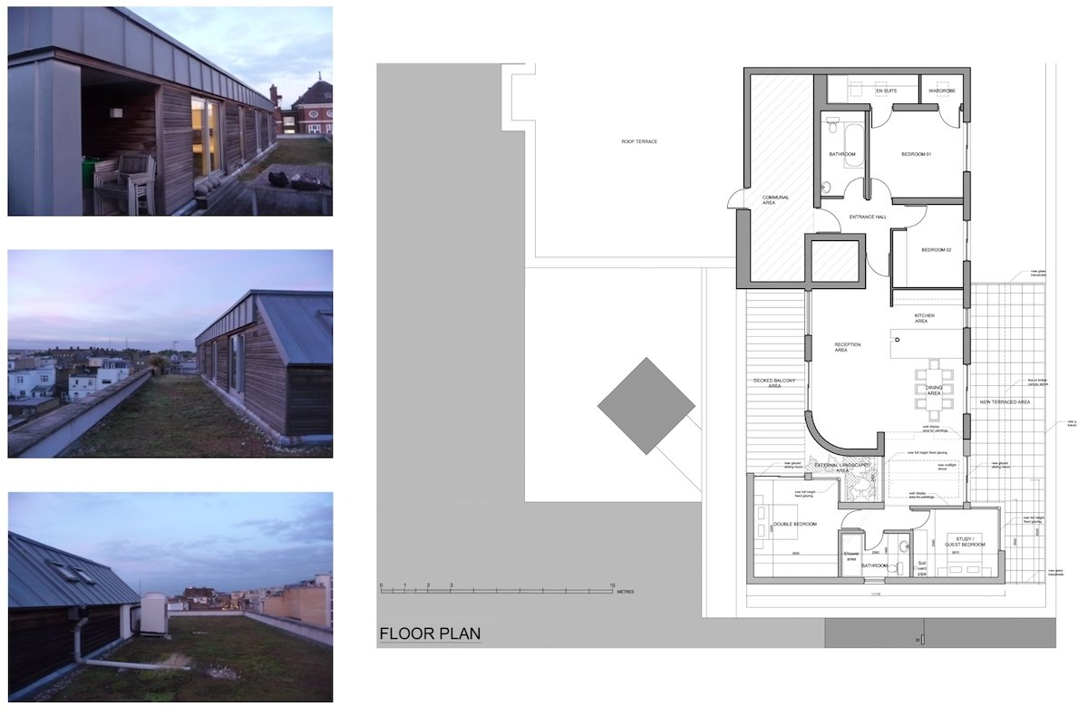 Architect designed penthouse extension Angel Islington N1 Floor plan Angel, Islington N1 | Penthouse extension
